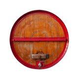 Brown e barilotto rosso fotografie stock libere da diritti