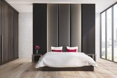 Brown e camera da letto beige Fotografie Stock Libere da Diritti