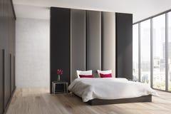 Brown e camera da letto beige, lato Fotografie Stock