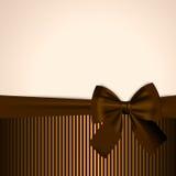 Brown e cartão dourado Fotografia de Stock Royalty Free