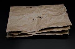 Brown e cartone piegato colorato beige fotografie stock