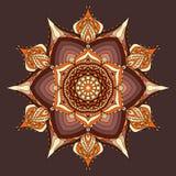 Brown e fundo bege da mandala, papel de parede, cartão colorido Imagem de Stock Royalty Free