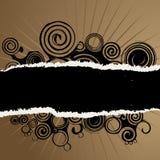 Brown e fundo preto Foto de Stock Royalty Free