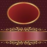 Brown e fundo vermelho Foto de Stock