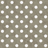 Brown e grande Polka bianca Dots Pattern Repeat Background Immagini Stock Libere da Diritti