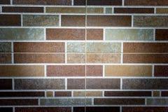 Brown e Gray Bricks Wall Pattern imagens de stock royalty free