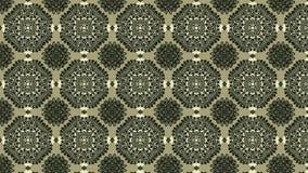 Brown e imagem verde do teste padrão do fundo do ornamento do vintage ilustração do vetor