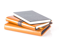 Brown e livros de couro pretos do diário Foto de Stock Royalty Free