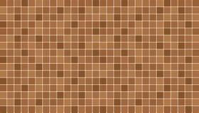 Brown e mattonelle ceramiche beige della parete e del pavimento Priorità bassa astratta di vettore Immagine Stock