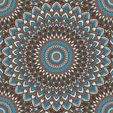 Brown e o azul coloriram o fundo sem emenda abstrato decorativo do laço do mão-desenho com muitos detalhes para o projeto ilustração stock