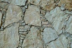 Brown e parede de pedra natural cinzenta Imagem de Stock Royalty Free