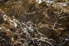 Brown e struttura di marmo nera, struttura dettagliata di marmo (di alta risoluzione), fondo astratto di struttura di marmo Fotografie Stock Libere da Diritti