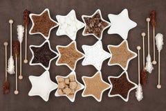 Brown e zuccheri bianchi Fotografia Stock Libera da Diritti