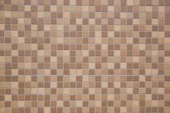 Brown earthenware floor tile background Stock Images