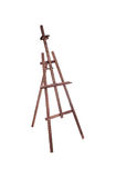 Brown easel isolated on a white background Royalty Free Stock Photos