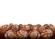 Brown Easter Eggs Background Royalty Free Stock Images