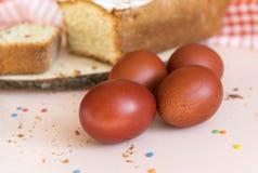 brown Easter eggs, cupcake,  brown Easter eggs, cupcake stock photo