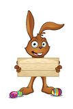 Brown Easter Rabbit Character Royalty Free Stock Photo