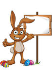 Brown Easter Rabbit Character Stock Photo