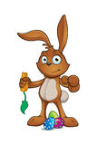 Brown Easter Rabbit Character Stock Images