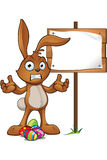 Brown Easter Rabbit Character Royalty Free Stock Image