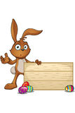 Brown Easter Rabbit Character Royalty Free Stock Photos
