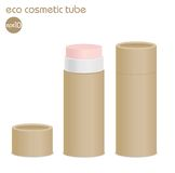 Brown eco cosmetic tube Stock Photos