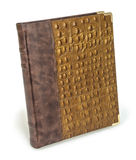 Brown eco leather crocodile photo album cover Royalty Free Stock Images