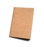 Brown eco notebook or scrapbook Stock Photos