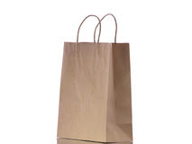 Brown eco paper bag Royalty Free Stock Image