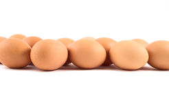 Brown egg background composition Royalty Free Stock Images