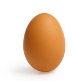 Brown egg with clipping path Stock Photo