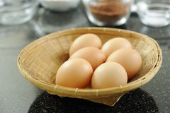 Brown eggs Royalty Free Stock Photography