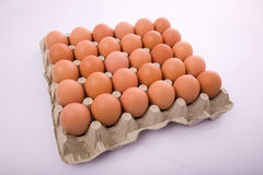 Brown eggs. In a box Royalty Free Stock Photography