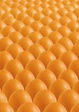 Brown eggs. Many brown eggs lined up Stock Image