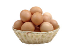 Brown eggs in basket. Royalty Free Stock Image