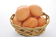 Brown eggs in the basket Royalty Free Stock Image