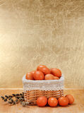 Brown eggs in basket Stock Photography
