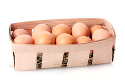 Brown eggs in box Royalty Free Stock Image