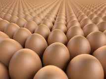 Brown eggs 3d render Stock Images