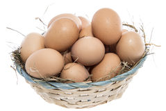 Free Brown Eggs Isolated On White Royalty Free Stock Images - 33158709