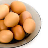 Brown eggs in the plate Royalty Free Stock Images