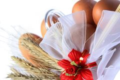 Brown eggs and spica Stock Photos