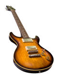 Brown electric guitar Royalty Free Stock Photography