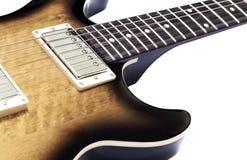 Brown electric guitar Stock Photos