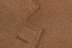 Brown elegant buttonhole suit Royalty Free Stock Photo