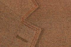 Brown elegant buttonhole suit Royalty Free Stock Photo