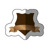 Brown emblem design with ribbon icon. Illustration image Stock Images