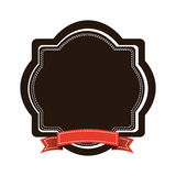 Brown emblem with red ribbon icon. Illustraction design Stock Photography