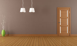 Brown empty room Royalty Free Stock Photos